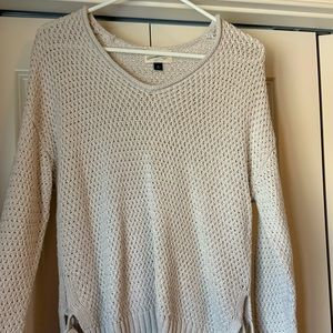 Knit high low sweater